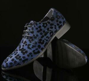 Up da Nightclub Lace punta Chic formali Casual leopardata scarpe uomo a scarpe zqAw75Z