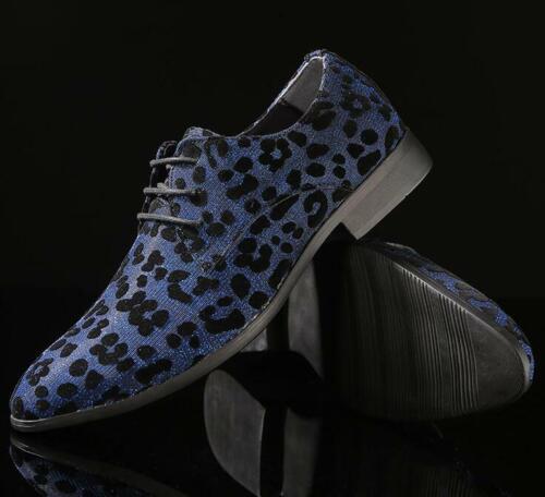 a leopardate Lace Casual Eleganti Clubwear Up punta scarpe eleganti con uomo da punta zYRzq8