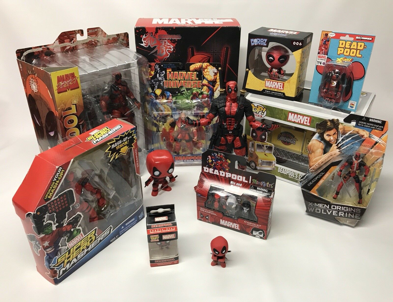 Deadpool Action Figure lot of 12 (Marvel, Uncanny X-Men, X-Force, Toybiz) RARE