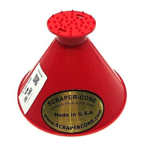 Eiskratzer Scraper Cone Ice scraper rubin rot red