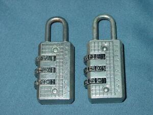 Lot-Of-2-Combination-Luggage-Suitcase-Bag-Secure-Locks-Prestolock
