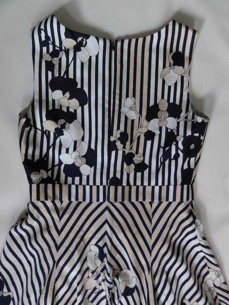 DIANE VON FURSTENBERG INVERSE KIMANA KIMANA KIMANA SILK WOOL DRESS, Stripe, Size 6, MSRP  545 808d80