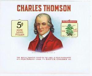 Charles Thomson American Patriot Continental Congrès Cigare Boîte Label Qldc5lcv-08012624-842953011