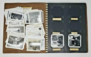 Antique-Lot-of-Korean-War-Military-Air-Force-Photographs-and-Scrapbook-Over-150