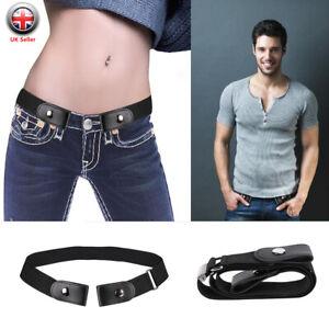 nueva colección 3339e 530ca Detalles de Cinturones hebilla libre Elástico Cinturón para hombre mujer  invisible para Jeans No Bulto molestia- ver título original