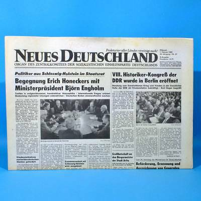 Ddr Neues Deutschland 01.02.1989 Februar Zum Geburtstag Hochzeitstag 29. 30. 31.