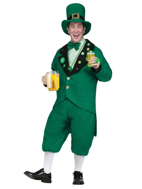 Leprechaun St Patricks Day Irish Oktoberfest Beer Pub Crawl Men Costume