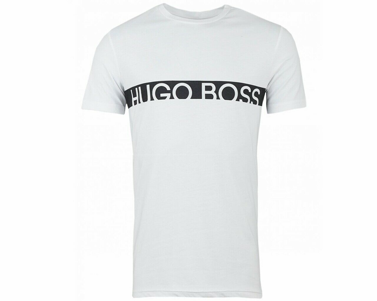 Hugo Boss 50407600 101 Crew Neck Mens T-Shirt RN Weiß Top