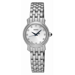 Seiko Women's Swarovski Crystals Stainless Steel Watch SXGP65P1 New in Box