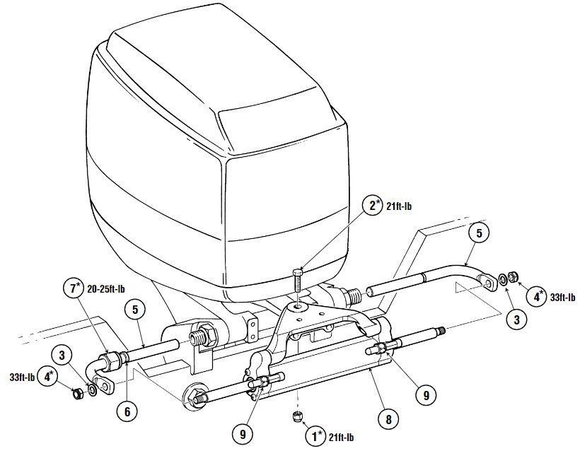 Hydraulic Outboard Motor Steering Kit Suits Yamaha Honda Suzuki