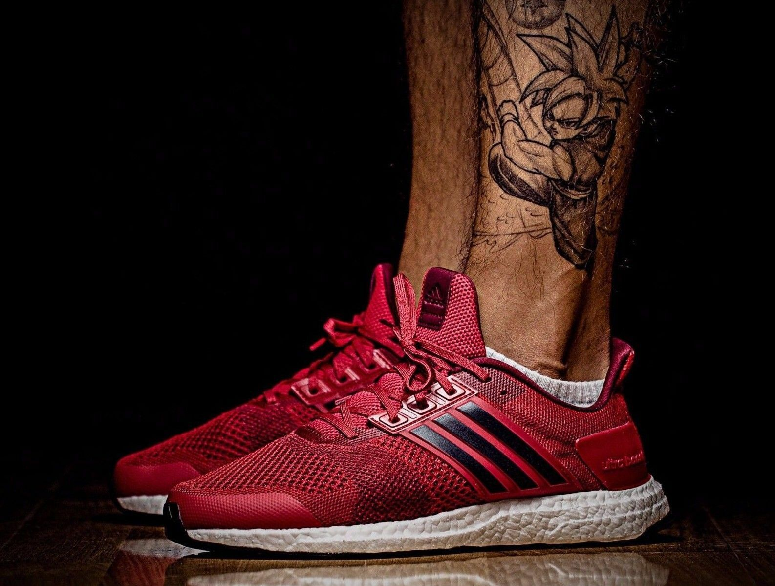 MEN'S ADIDAS ULTRA BOOST ST fonctionnement chaussures12 EUR 47 1/3 BB3930 rouge RARE