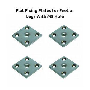 Furniture leg feet fixingmounting plates brackets m8 8mm thread set image is loading furniture leg feet fixing mounting plates brackets m8 watchthetrailerfo