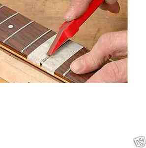Fret Dressing Crowning Stick with 2 belt Luthier tool! Spare Replacement MI-USA!