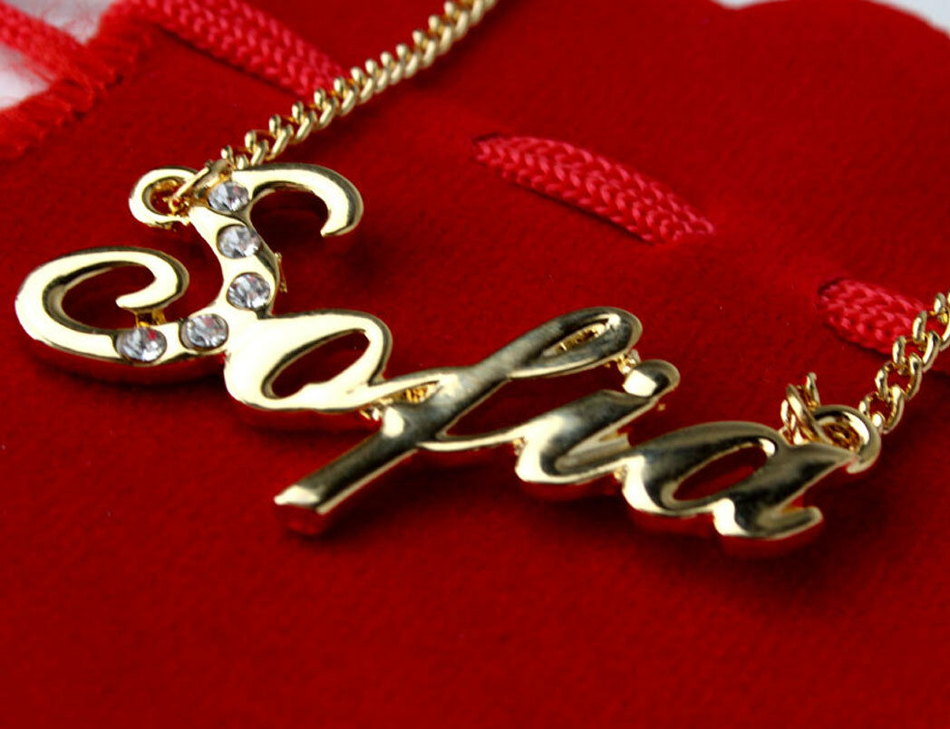 SAIMA SALMAEid Arabic Name Necklace /'S/' Personalised Gifts SADIA SAIRA