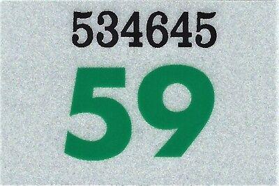 1969 WASHINGTON Vinyl Sticker Decal-TRUCK License Plate Registration TAB TAG-New