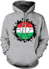 Hungary Spatter Flag Hungarian Pride Zászló Magyar 2-tone Hoodie Pullover