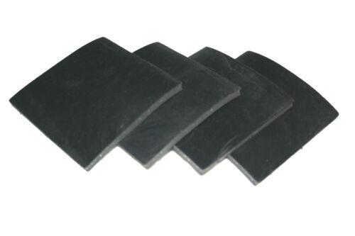 Gummiauflage Gummipad Gummi Gummiplatte Unterlage Auflage 4 Stck 120x120x3mm