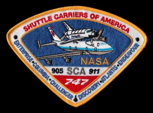 SCA NASA SHUTTLE CARRIERS OF AMERICA ORIGINAL 905-911  747 SPACE PATCH