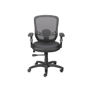 uk availability 13fda 448c7 Details about Staples Corvair Luxura Mesh Back Task Chair Black 934100