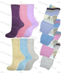 Women/'s Merino LAMBS WOOL Blend Socks Thermal Winter Warm 2.4 tog thick crew
