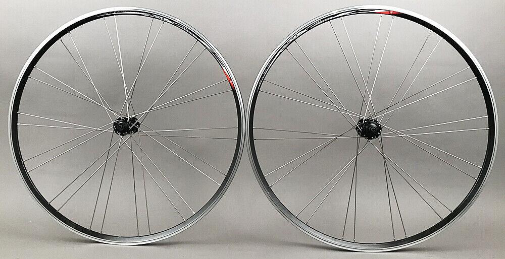 Image 1 - Mach1 Rims Black Road Bike Wheelset 28h Shimano Tiagra Hubs 8 9 10 11 Speed NEW