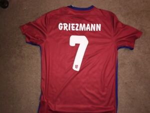 timeless design 68b5e 26816 Details about Nike Atletico Madrid 15/16 Home Griezmann Jersey, Shirt, Size  L, New