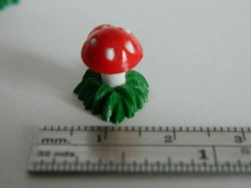 G23 1//12th scala casa delle bambole Confezione da 4 doppi FUNGHI VELENOSI su una base