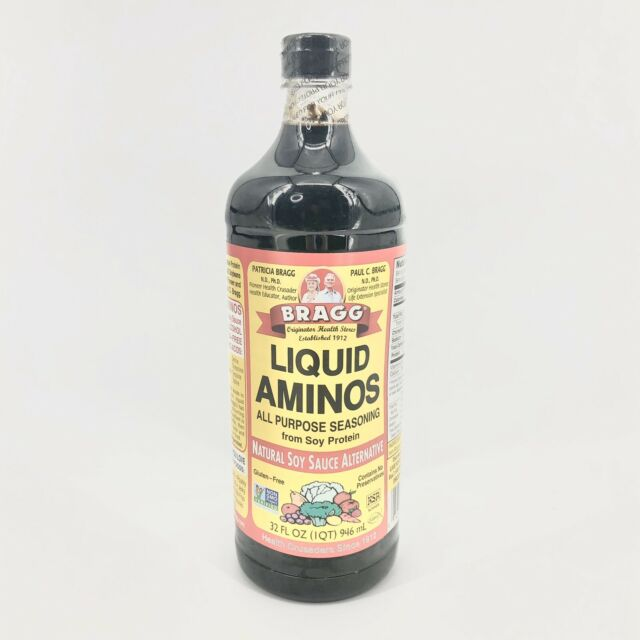 Bragg Liquid Aminos All Purpose Seasoning Soy Sauce Alternative 32 Oz 2 Pack For Sale Online Ebay