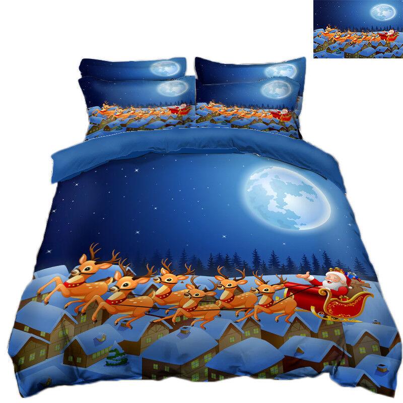 3D Christmas  Xmas 371 Bett Pillowcases Quilt Duvet Startseite Set Single Königin König