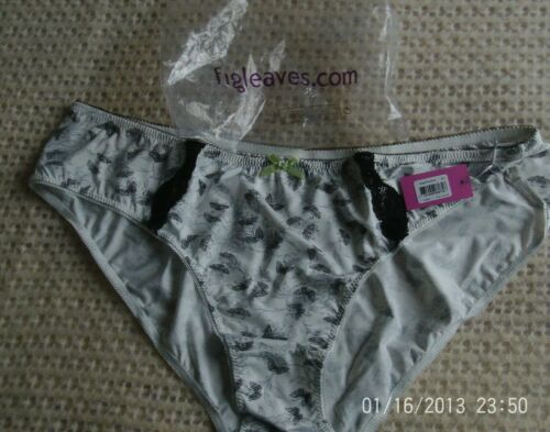 XL 133109 XL New Midnight Grace By Figleaves /'Sweet Pea/' Brief Ivory X-Large