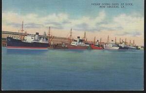 New Orleans Louisiana Ships at Docks Cotton Bananas Lot Three Vintage Postcards