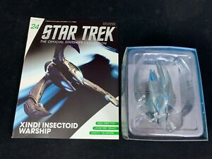 STAR TREK EAGLEMOSS OFFICIAL STARSHIPS COLLECTION 24 XINDI INSECTOID WARSHIP