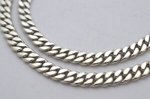 925-Sterling-Silver-Curb-Chain-Necklace-51g-50cm-20-034