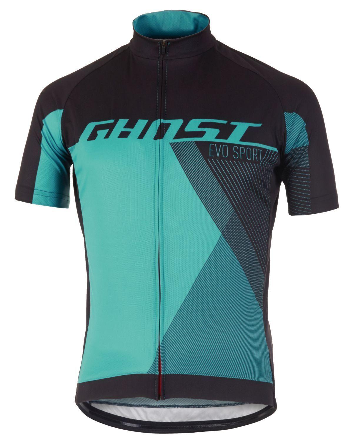 Ghost PERFORMANCE EVO Jersey Short, NeroBluBlu, Taglia S, Bicicletta Maglia