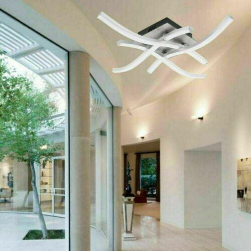 LED Design Deckenlampe Wohnzimmer Badleuchte Deckenleuchte modern Acrylweiß