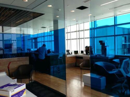 "BLUE NON REFLECTIVE 3O/""x10/' PROLINE WINDOW FILM COLOR TINT AUTO GLASS POLARIZADO"