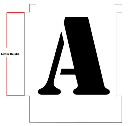 100mm ALPHABET STENCILS INDIVIDUAL LETTER STENCILS  A-Z Army Stencil Font 15mm
