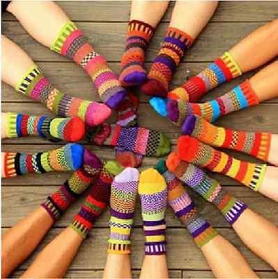 New Vintage Harajuku Casual Totem Cotton Multi-Color Fashion Mens Women's Socks