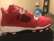 premium selection 50066 2bec3 item 4 New Nike Air Jordan Retro IV 4 Baseball Cleats Red White Sz 16  807709-601 -New Nike Air Jordan Retro IV 4 Baseball Cleats Red White Sz 16  807709-601