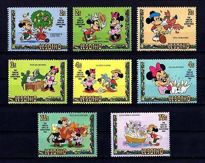 Disney 12 Days Of Christmas.Lesotho 1982 Disney 12 Days Of Christmas Mickey Minnie 8 X Mint Set Ebay