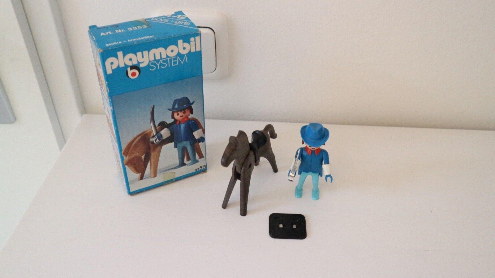 Playmobil 3353 lineart set ovp Jahr klicky western, solder, Blau army, armée