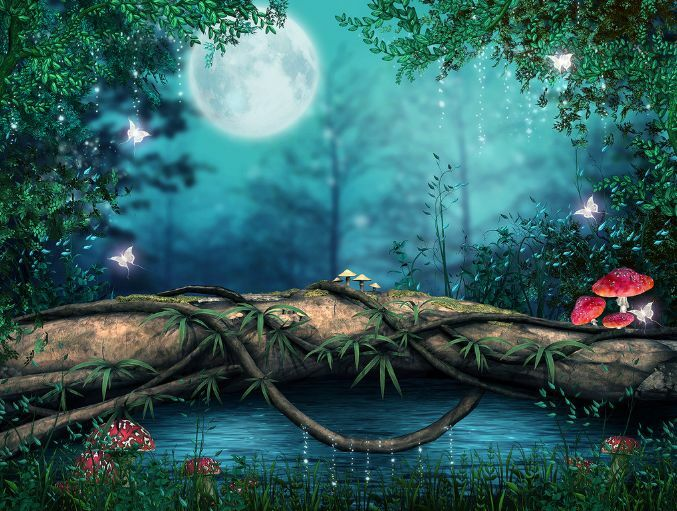 3D Night Forest Moon 480 Floor WallPaper Murals Wall Print Decal 5D AJ WALLPAPER
