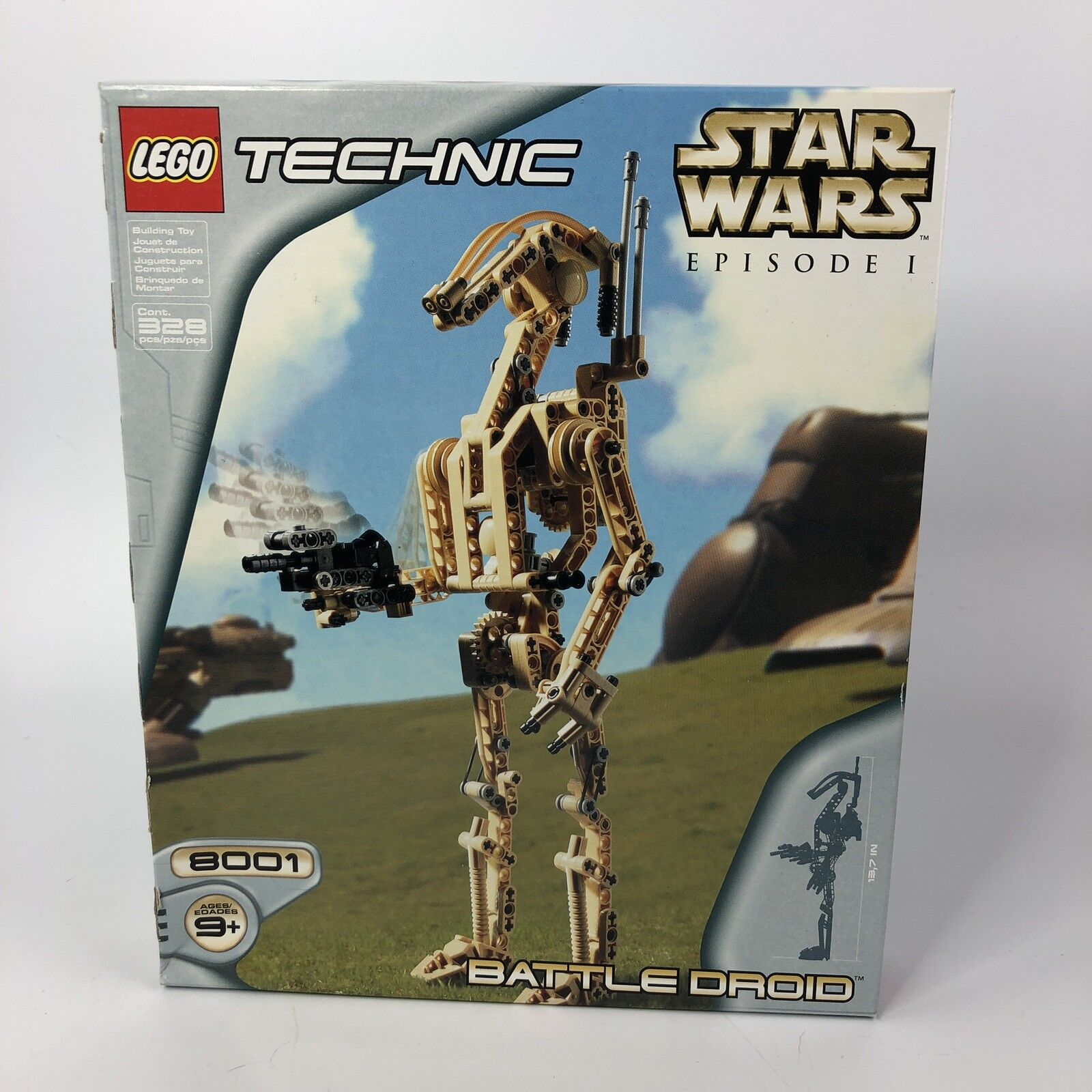 Nuovo LEGO Technic Star Wars BATTLE DROID 328 Pieces Episode 1 Sealed 8001