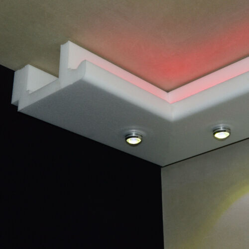 Stuckleisten LED Beleuchtung Stuckprofil Lennart  13,4cm x 6cm 10 Meter