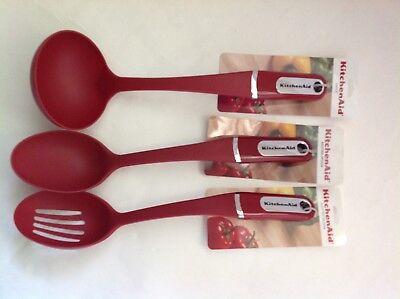 HERA Slotted Basting Spoon New Kitchenaid Empire Red
