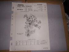 ZENITH 30 VIG6 CARB FORD CONSUL MK1, ZEPHYR, ZODIAC MK1 SPARE PARTS SHEET