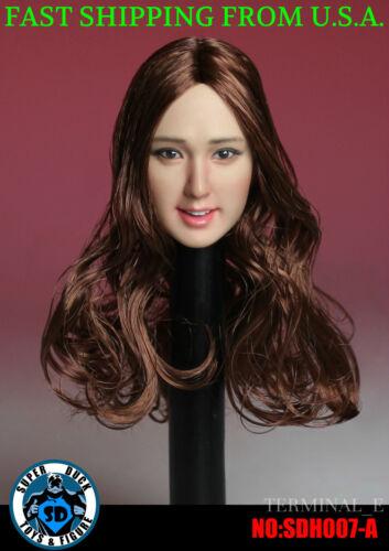 1/6 Female Head Sculpt SDH007A SUPERDUCK For Hot Toys Phicen Female Figure ❶USA❶