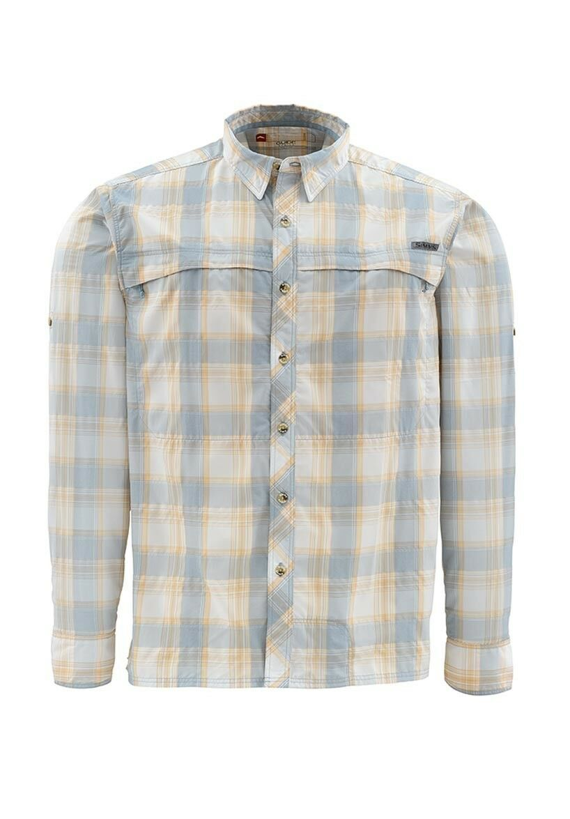 Simms STONE COLD Long Sleeve Shirt Slate  NEW Slate Shirt Blau Plaid  XL  CLOSEOUT 3694df