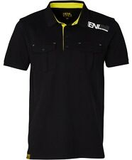 Men's Henleys Originals Solidate SS Polo Shirt - Black Yellow White S BNWT