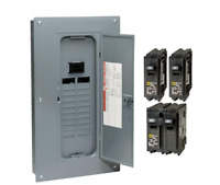 Circuit Breaker Box Panel Electrical 100 Amp 20 Space Indoor Fuse Load Center